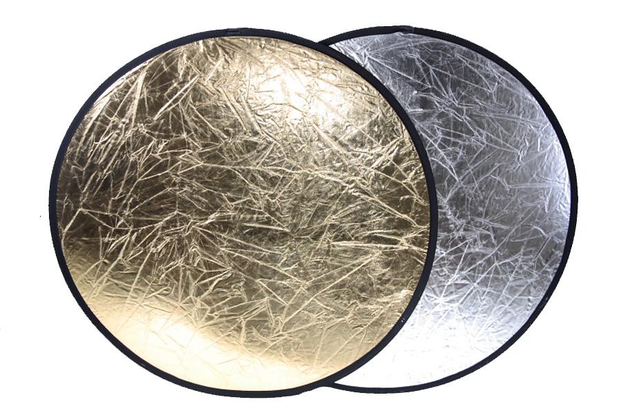 Odrazová deska, odrazná deska 40cm 2 v 1 zlatá stříbrná