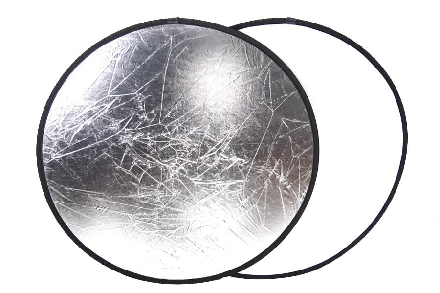 Odrazová deska, odrazná deska 50cm 2 v 1 stříbrná/bílá
