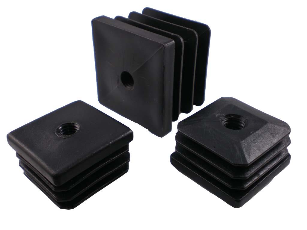 Záslepka, krytka, zátka 50X50mm Čtvercová záslepka s vnitřním závitem
