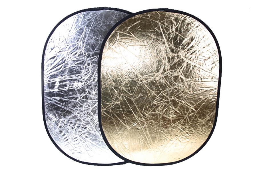 Odrazová deska,  odrazná deska 90x120cm 2 v 1 zlatá/stříbrná