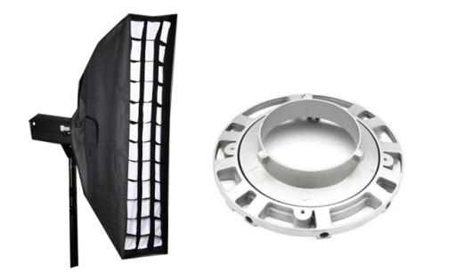 Strip softbox s voštinou, otočný 22x95cm Bowens (SB2295BGR)