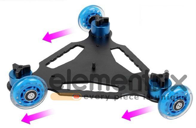 Dolly scater, vozítko pro pojíždění s kamerou DSLR 3 osy