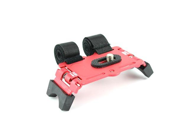 Stativ na kolo pro fotoaparát GPS, gopro červený