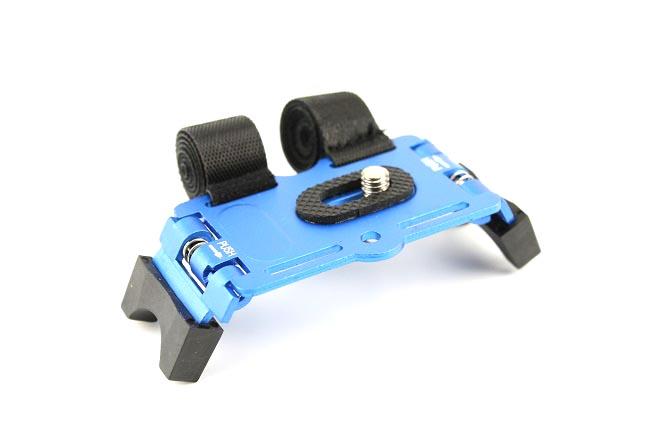 Stativ na kolo pro fotoaparát GPS, gopro modrý