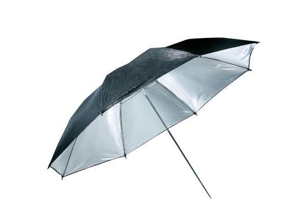 Studiový fotografický deštník 102cm stříbrný