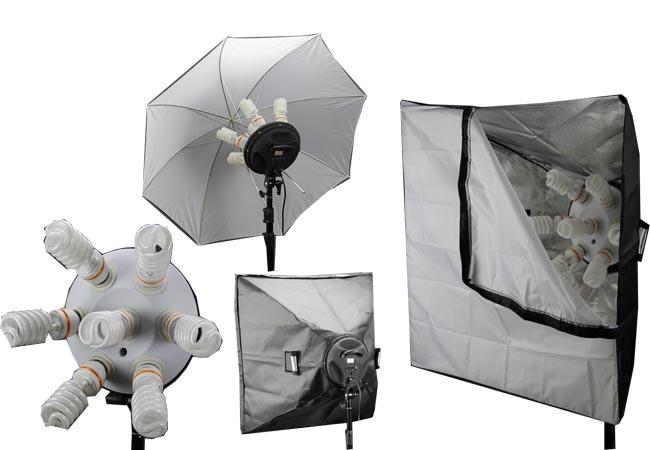 Softbox s lampou pro 7 žárovek 80x80cm