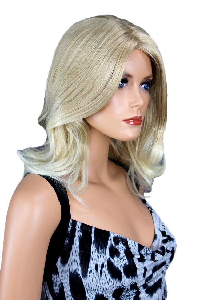 Dámská paruka středně dlouhá blond ombre