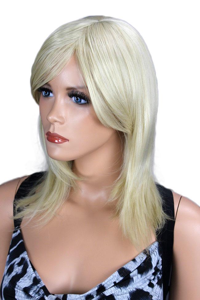 Dámská paruka středně dlouhá, blond  201