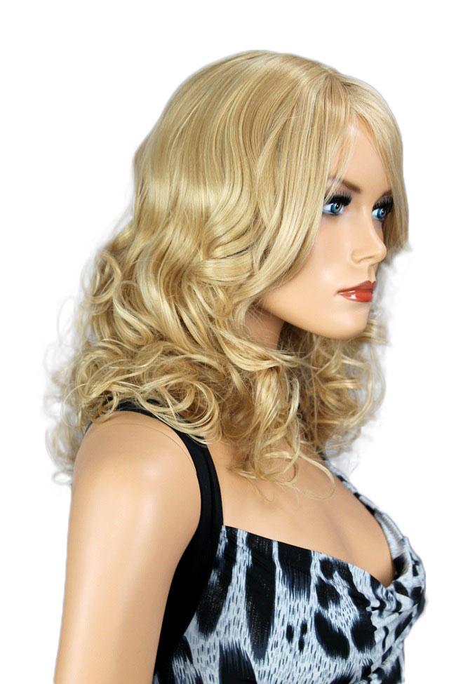 Dámská paruka středně dlouhá, blond, kudrnatá  287
