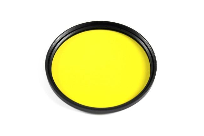 Plný filtr žlutý 55mm