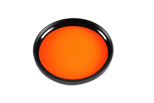 Plný filtr ORANŽOVÝ 62mm
