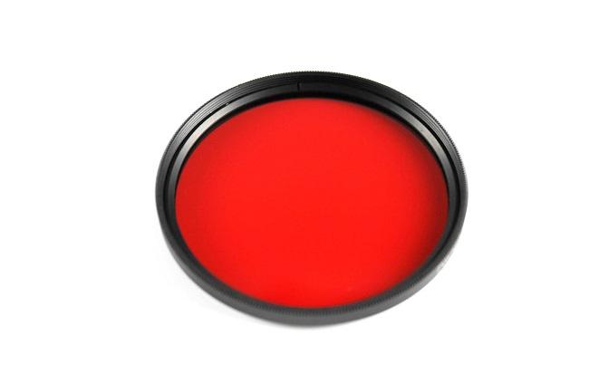 Plný filtr červený 72mm