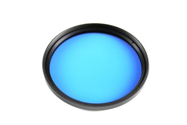 Plný filtr modrý 62mm