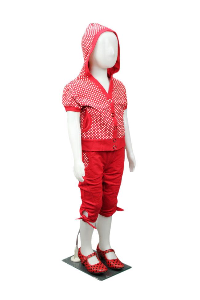 Dětská figurína, manekýna holka BÍLÁ, ABSTRAKTNÍ