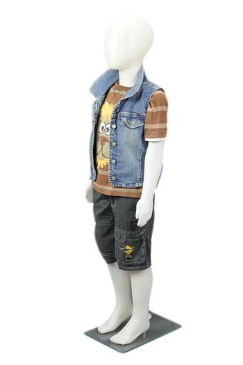 Dětská figurína, manekýna kluk BÍLÁ, ABSTRAKTNÍ
