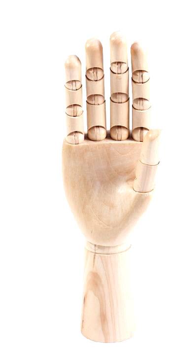 Dřevěný model ruky menší