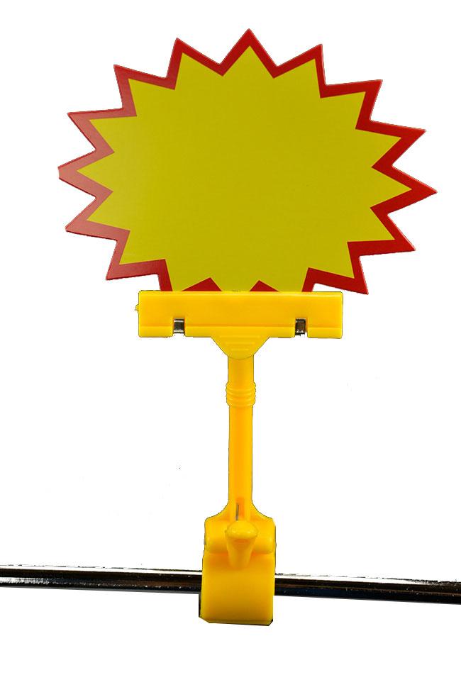 Memo clip na cenovky se skřipcem X-4 žlutý