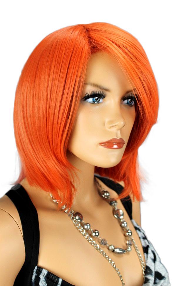 Dámská paruka krátká, oranžová 111-2313