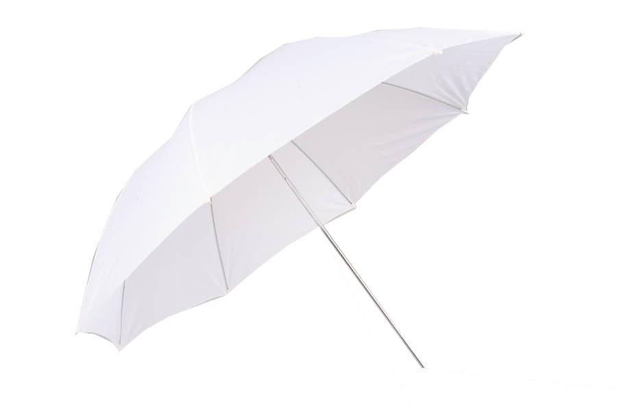 SLEVA Studiový fotografický difuzní deštník 110cm bílý