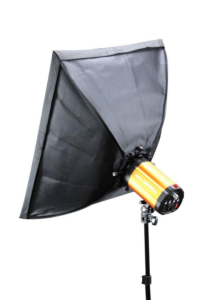 1x Mini blesk sada 300Ws, záblesková lampa, softbox 60x60cm (MF300set1-softbox 60x60)