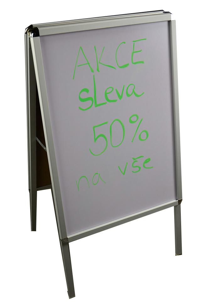 Reklamní tabule áčko A1 poutač oboustranná popisovatelná
