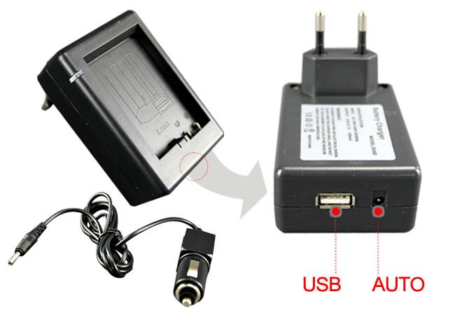 Nabíječka pro Li-40B USB pro Olympus, Nikon (DB-Li-40B)