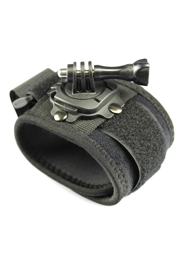 360° otočný držák s páskem na ruku pro GoPro Hero kamery (GP130)