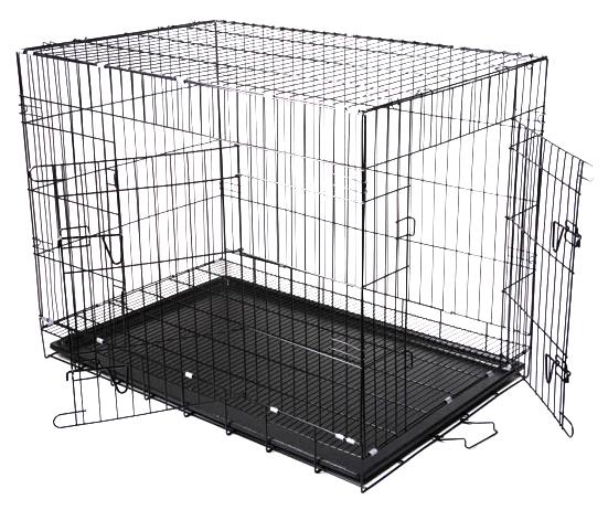 Klec pro psa, kovová přepravní klec, Velikost 77 cm M