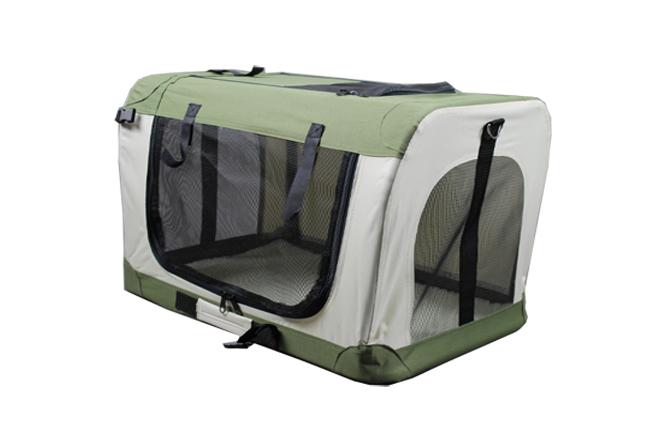 Klec pro psa, přepravní klec, látková přepravka, M/60, zelená