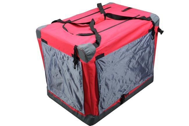 Klec pro psa, přepravní klec, látková přepravka, XL červená 3016