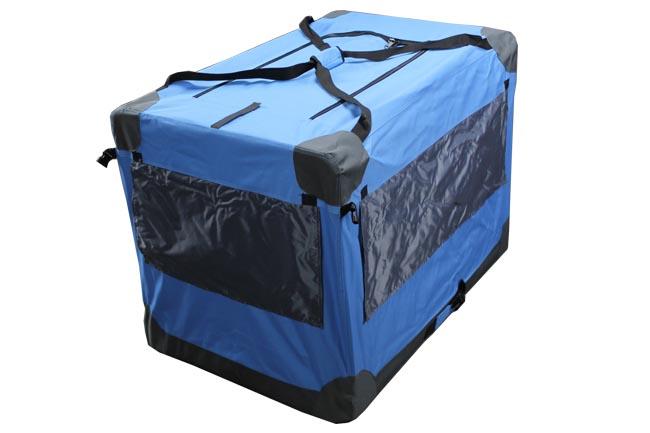 Klec pro psa, přepravní klec, látková přepravka, 3XL modrá 3016