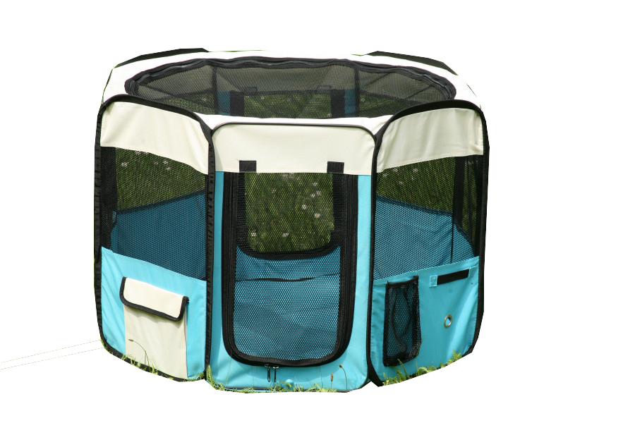 Klec pro psa, látková přepravka, výběh, vel. XL světle modrá (R 125X)