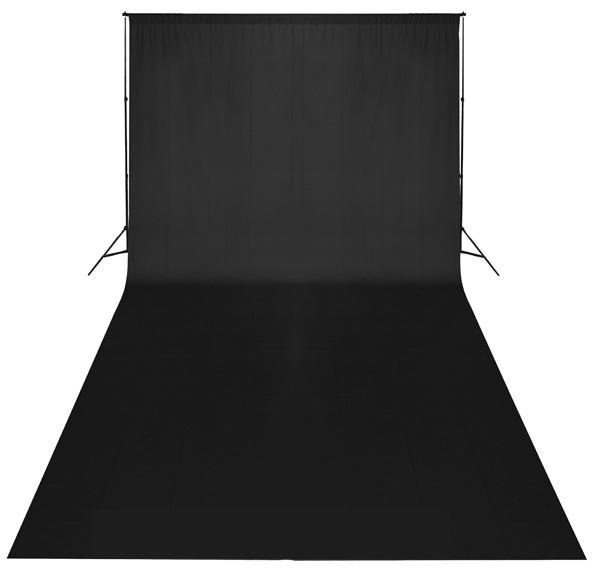 Fotografické pozadí bavlněné 3x6m černé