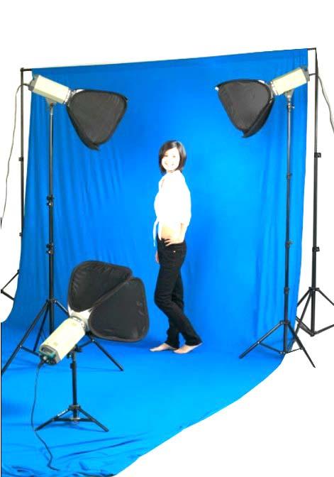 Fotografické pozadí bavlněné 3x6m modré