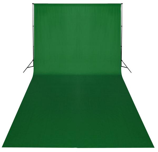 Fotografické green screen pozadí bavlněné 3x6m zelené