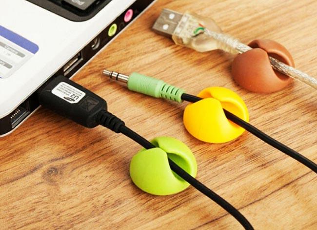 Cable clip, držáky kabelů  6ks