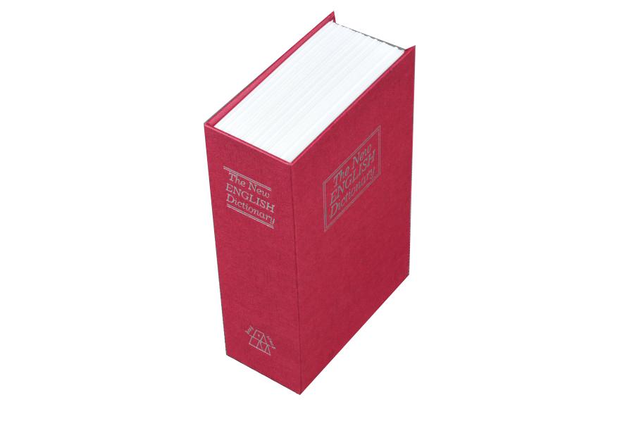 Trezor, pokladnička, kniha slovník 240x160x60mm červený