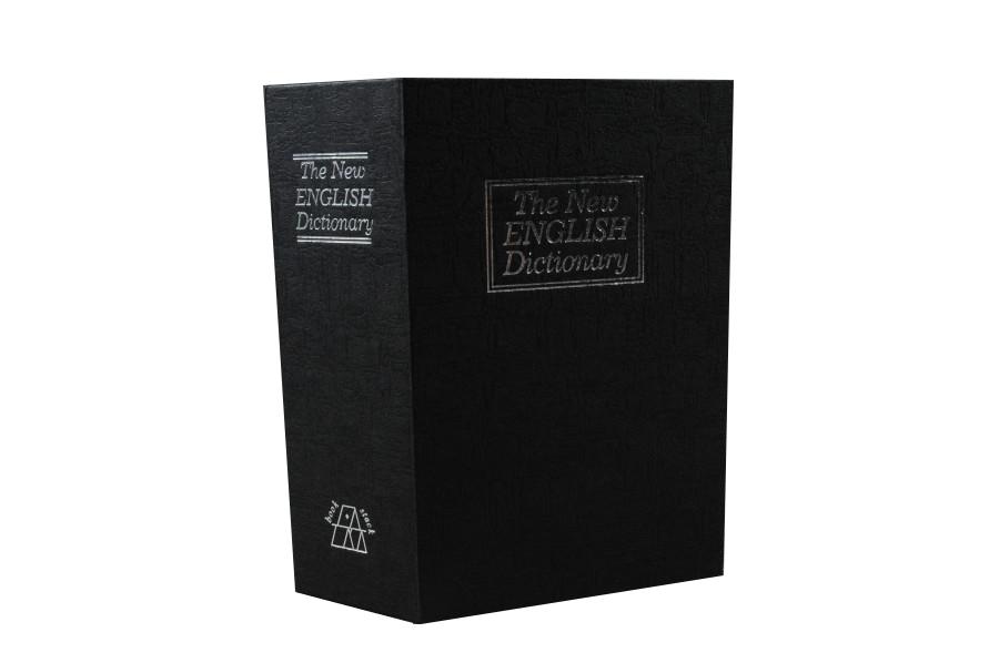Trezor, pokladnička, kniha slovník 265x200x65mm černý