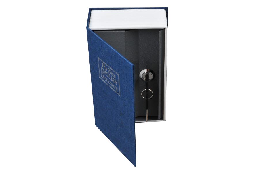 Trezor, pokladnička, kniha slovník 265x200x65mm modrý