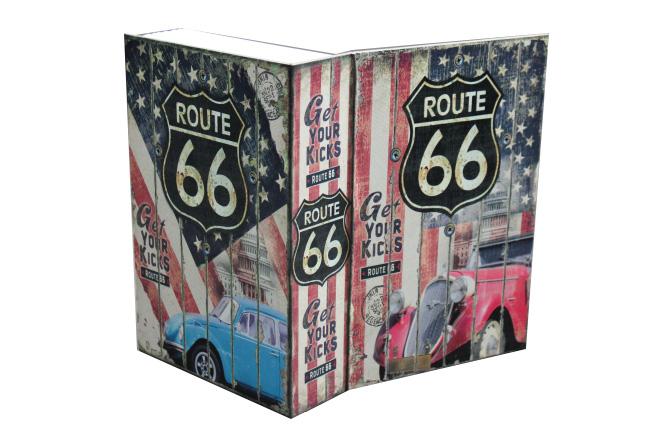 Trezor, pokladnička, kniha Route 66 240x160x60mm