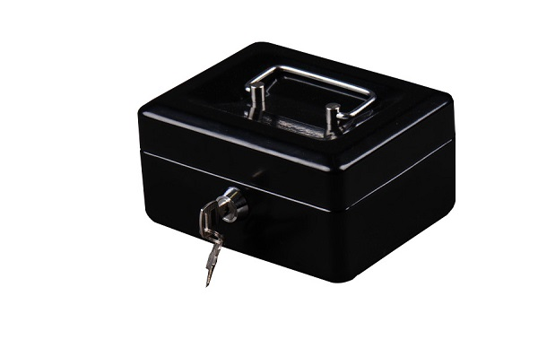 Trezor, pokladnička, přenosná pokladna 152 černá