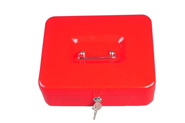Trezor, pokladnička, přenosná pokladna 250 červená