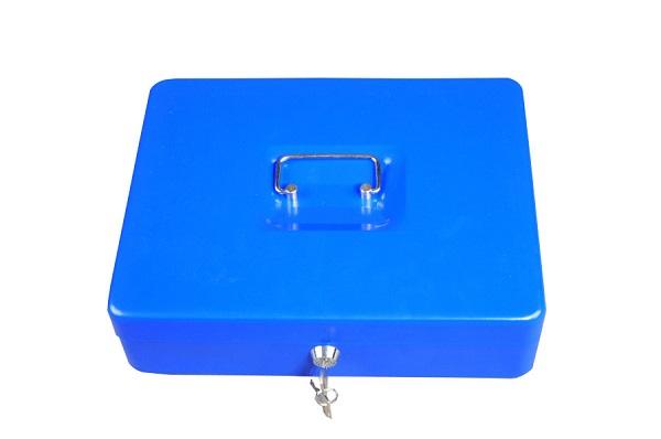 Trezor, pokladnička, přenosná pokladna 250 modrá