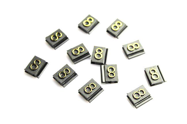 Plastové 3D cenovky náhradní znak 9 zlaté