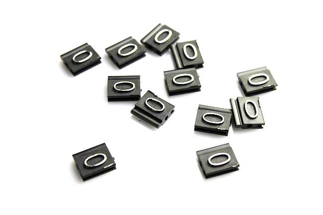 Plastové 3D cenovky náhradní znak 0 stříbrné