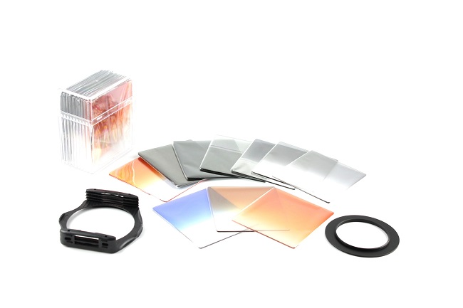 Sada 10 filtrů, redukce 49mm a držáku pro systém Cokin P