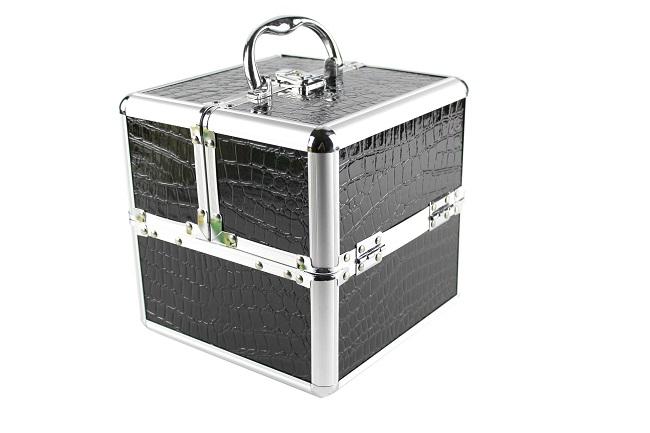 Kosmetický kufřík, šperkovnice, kufr, černý