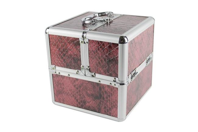 Kosmetický kufřík, šperkovnice, kufr, červený