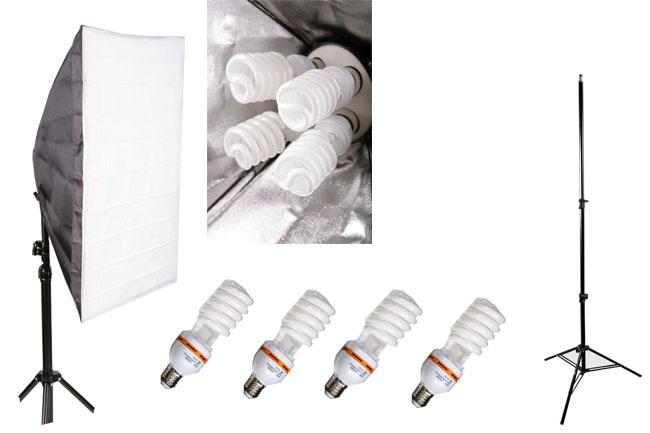 Elementrix softbox set lampa 4x35W, stativ