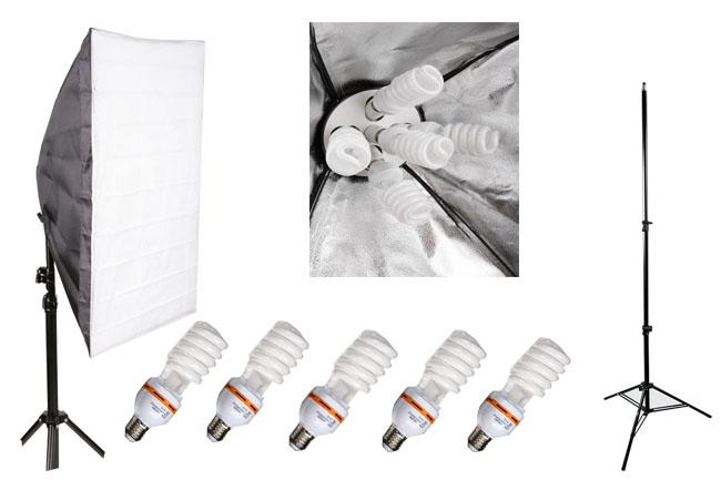 Elementrix softbox set lampa 5x35W, stativ
